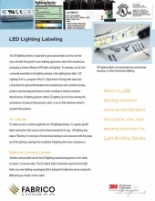 Fabrico offers LED Lighting Labels