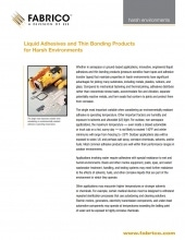 Download Liquid Adhesives for Harsh Environments