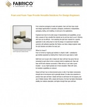 Download Foam and Foam Tapes