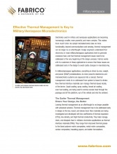 Download Thermal Management Key to Mil/Aero Microelectronics