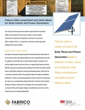 Download Solar Panel and Power Generation Labels