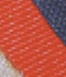 close up of orange and purple fabric materials