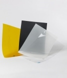 yellow, black and transparent films
