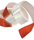 roll of red and white reflective materials
