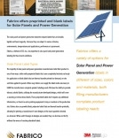 Fabrico offers a variety of solar panel and power generation labels